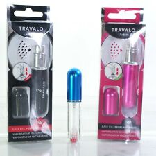 3 Travalo  Refillable Mini Perfume Bottle Spray 0.13oz ea; pink+black+blue