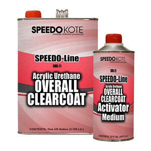 Automotive High Gloss Clear Coat Urethane, SMR-21/25 4:1 Gallon Clearcoat Kit