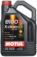 5 Lt Litri Olio Motore Motul 8100 X-CLEAN EFE C2 C3 100% Sintetico