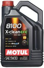 5 lt litri Olio Motul 8100 X-clean EFE C2c3 Opel Dexos2 Mercedes MB 229.52