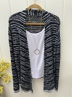 Eileen Fisher 1XL Cardigan Sweater, Black And White Super Cute For A Night Out