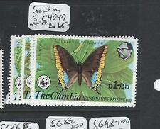 GAMBIA (P2507B) WWF BUTTERFLY SC 404-7  MNH