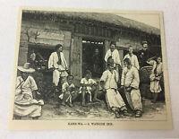 1887 magazine engraving ~ WAYSIDE INN, Kang-Wa, Korea