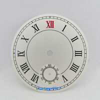 parnis 38.9mm white watch dial roman dial fit chinese hand wind 6498 movement