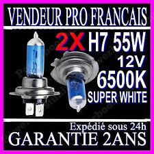 Kit DE 2 Ampoule Lampe Halogene Feu Phare XENON GAZ SUPER WHITE H7 55W 6500K 12V