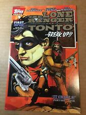 The Lone Ranger and Tonto 1994 Topps Comics Dealer Incentive SILVER Logo edition