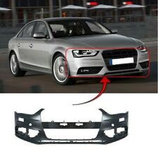 AUDI A4 SALOON 2012-2015 FRONT BUMPER PRIMED WITH PDC & WASHER HOLES UK SELLER