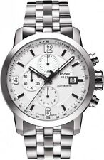 T0554271101700 Tissot PRC 200 Automatic Mens Watch White Chrono Stainless Steel
