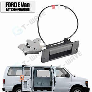 For Ford E150 E250 Right Side Hinged Door Latch with Handle 6C2Z-15264A01-AA