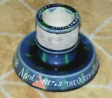More details for antique café majolica match holder striker advertising apollinaris table water