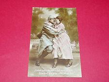 CPA GUERRE 14-18 CARTE PATRIOTIQUE 1917 POILUS J'entends battre ton coeur...