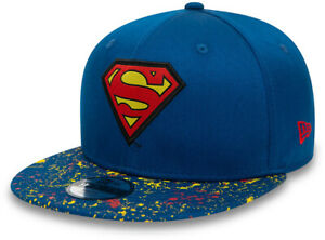 Superman New Era 950 Kids Paint Splat Visor Snapback Cap (Age 4 -10 years)