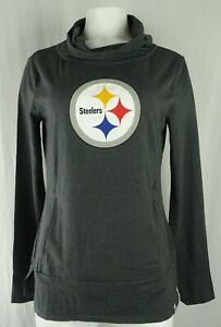 Pittsburgh Steelers NFL Majestic Women's Slouch Neck Pullover