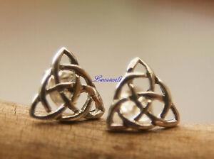 Silberohrstecker Keltische Glücks Knoten aus 925er Sterling Silber