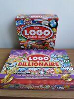 Logo Board Game and Logo Billionaire Game great condition *Read Description*