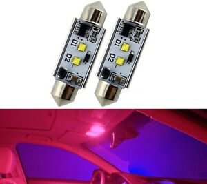 LED Light Canbus Error Free 578 6W Red Two Bulb Interior Dome Replace Festoon OE