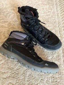 Quechua Waterproof Black Women's Hiking Boots, US 9, EU 40