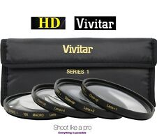 4Pcs Vivitar Close Up Macro Lens For Sony SAL-50F14 50mm SAL-75300 75-300mm Lens