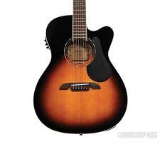 Alvarez Artist AF60CESB Folk OM Acoustic Electric Guitar - Sunburst! Free Gifts!