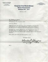 HARLEY O. STAGGERS Signed Letter AUTOGRAPH WEST VIRGINIA CONGRESS March 1977
