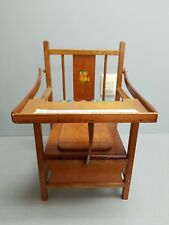 Vtg Wooden Child Toddler Toilet Potty Training Chair Seat with Lid & Tray