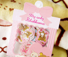 ~ * New Rilakkuma Bear 60pcs 12Design Sticker Sack Pack Japan*~ US + FREE SHP