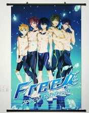 Home Decor Japan Anime Wall poster Scroll Free! - Iwatobi Swim Club Collection o
