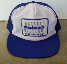 Vintage PATCH Masterack Logo Patch Mesh Trucker Baseball Hat Cap Snapback