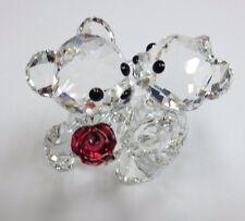 Swarovski 1077419 Kris Bear A Rose for you Kris Bear Boy Offering Flower to Girl