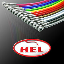 Hel Performance Braided Brake Pipe Hoses Renault Clio II 2.0 RS 182 2004- FRONTS