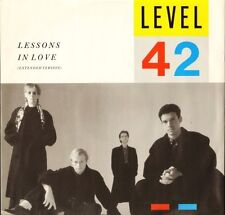"""LEVEL 42 lessons in love POSPX 790 uk polydor 1986 12"""" PS EX/EX"""