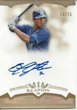 B.J. UPTON AUTO ON CARD # 19/25!!! GOLD! 2011 Topps Tier One # CP-BJU RAYS!!!