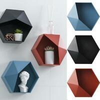 Wall Mounted Geometric Bathroom Shelf Living Room Decor Storage Rack G9W9