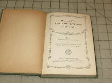 1910 MACAULAY'S ESSAYS ON CLIVE AND HASTINGS Small Hardcover Book Ginn & Co