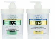 Advanced Clinicals Retinol Cream and Collagen Cream Skin Care Set of 2