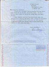 Letter Signed R W K Stevens Atlas Pilot 1929