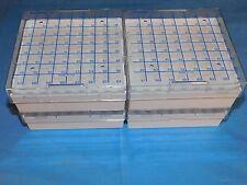 NALGENE 5055-5015 MICROCENTRIFUGE TUBE BOXES POLYCARBONATE QTY 4