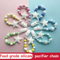 silikon diy - star - form baby, baby soother dummy - clips schnuller - kette