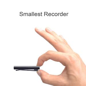 Smallest Mini USB Pen Voice Activated 8GB Digital Voice Recorder With Clip Black