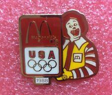 Pins MAC DO RONALD JO OG 88 MC McDonald's McDonalds Crew Lapel Pin Vintage Clown