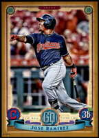 Jose Ramirez 2019 Topps Gypsy Queen 5x7 Gold #227 /10 Indians