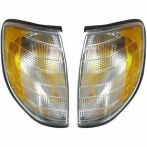 New Set of 2 LH And RH Park Signal Lamp Assembly Fits Mercedes-Benz S320 S420