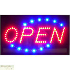 "Open Motion Led Sign 26"" Lights Hang Wall Window Indoor Game Room Usa Warranty"