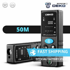 DEKO 164ft Laser Distance Measure Device Large Digital Display Measuring Tool