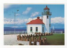Alki Point Lighthouse Seattle USA Plain Back Card 350a ^