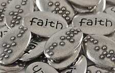Faith Braille Word Pebble - Bulk Lot of 10