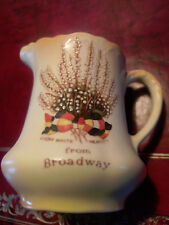 Arcadian Ware, Lucky White Heather Jug and Bowl, Broadway