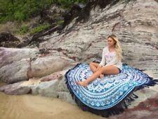 Outdoor Beach Round Blanket Rug Mandala Throw Bedspread Bohemia Hippie Tapestry