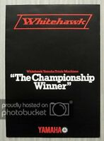 YAMAHA WHITEHAWK 80 - 175 - 200 TRIALS MOTORCYCLES Sales Brochure c1979