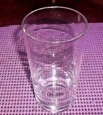 """Clear Glass Lead Bottom Kitchen Tumbler/Glass 5"""" Tall  Holds 8oz TEA /WATER"""